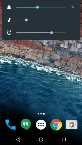 Neues Lautstärkemenü in Android M (Screenshot: Golem.de)
