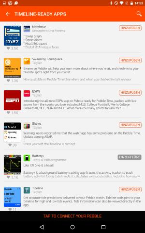 Android-App von Pebble Time (Screenshot: Golem.de)