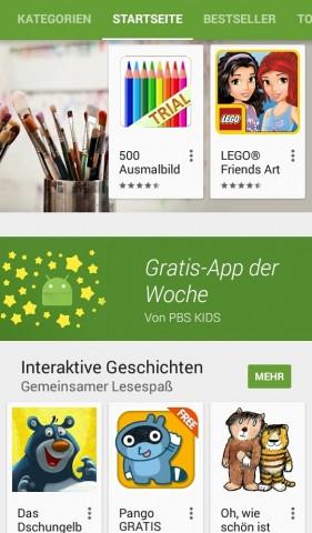 Play Store startet mit Gratis-App der Woche. (Screenshot: Golem.de)