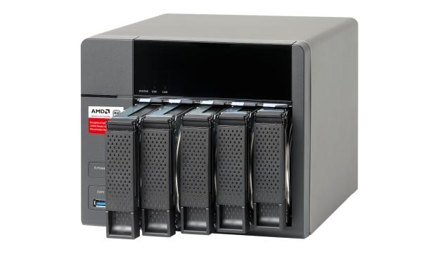 QNAPs TS-563 bietet fünf Festplattenschächte. (Bild: QNAP)