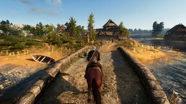 Benchmark-Szene The Witcher 3 (Screenshot: Golem.de)