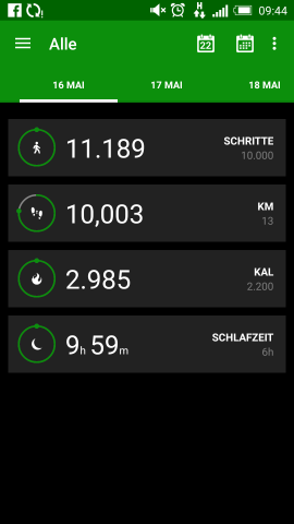 Razer Fitness App (Screenshot: Golem.de)