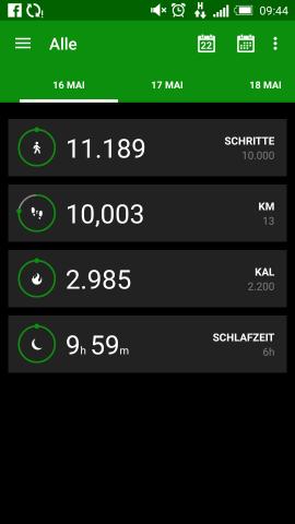 Razer Fitness App (Screenshot: Golem.de)