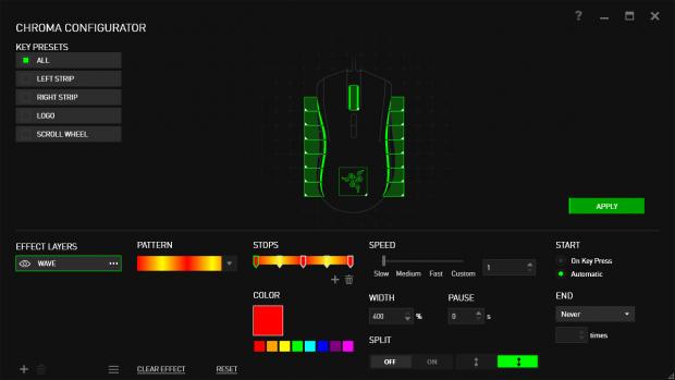 Razer Mamba im Synapse-Treiber (Screenshot: Golem.de)