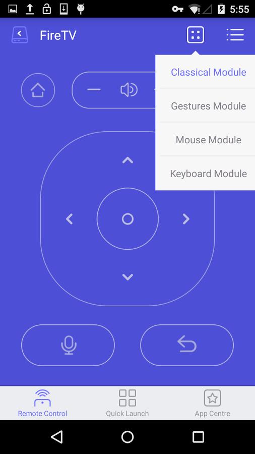 Wukong TV Remote Control: Virtuelle Maus und App-Starter für Fire TV - Wukong TV Remote Control mit Fire-TV-Fernbedienungslayout (Bild: Wukong)