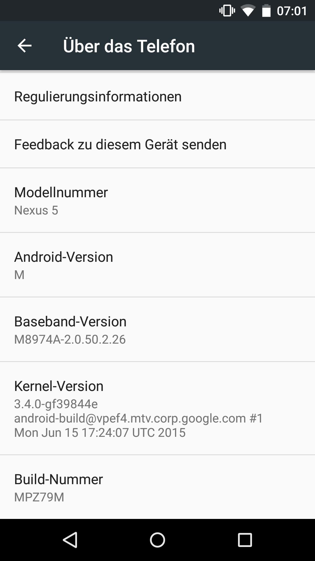 Google: Android M heißt Marshmallow - Googles zweite Developer Preview von Android M (Screenshot: Golem.de)