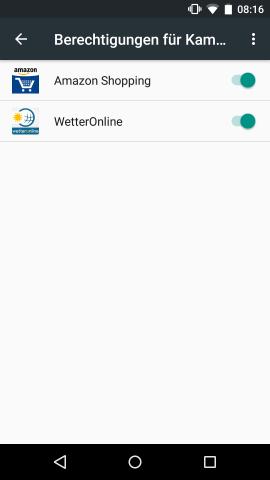 In der Preview 2 werden standardmäßig nur noch die Berechtigungen der zusätzlich installierten Apps aufgelistet. (Screenshot: Golem.de)