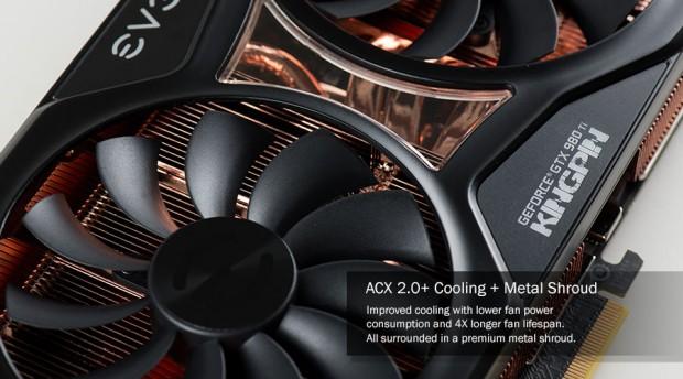Geforce 980 Ti Kingpin (Bild: EVGA)