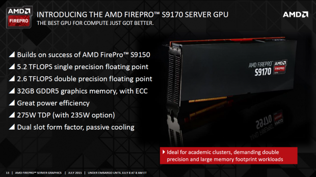 Präsentation zur FirePro S9170 (Bild: AMD)
