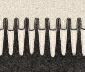Detailaufnahme der Transistoren (Bild: IBM)