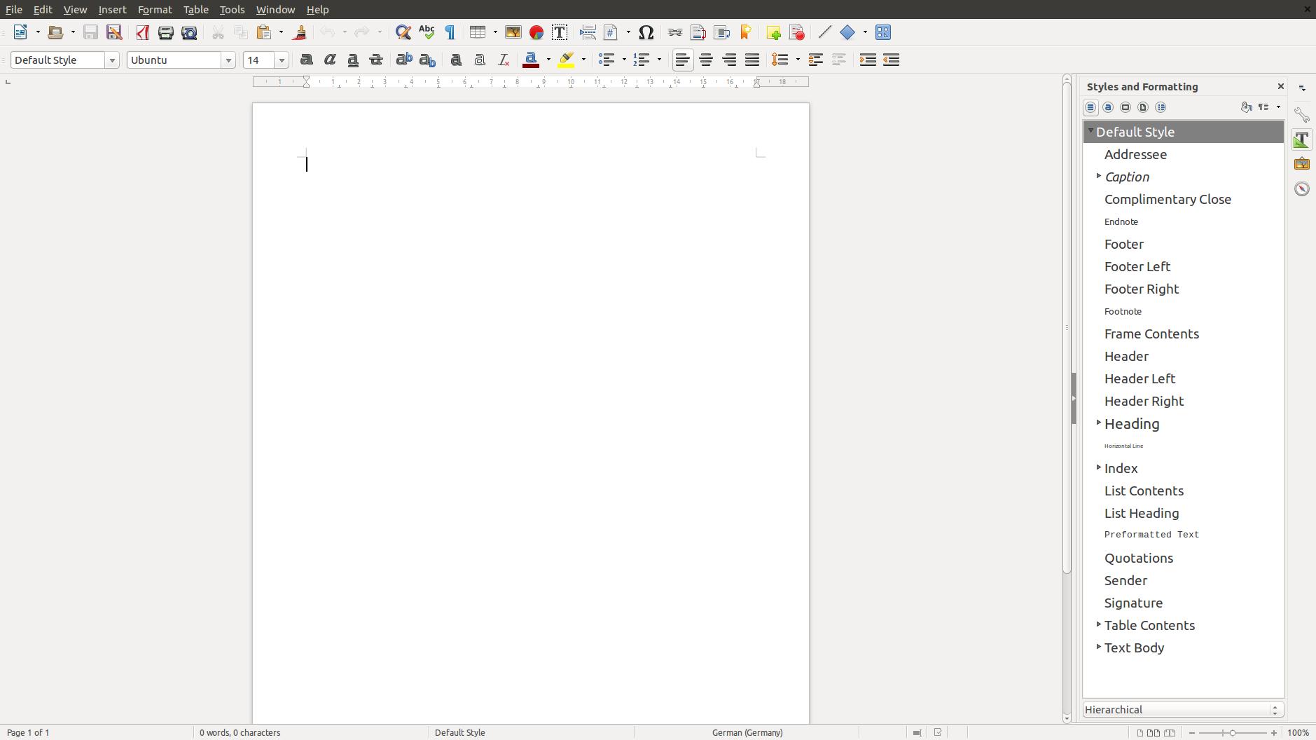 Freies Büropaket: Libreoffice springt auf Version 5.0 - Die Formatvorlagen zeigen das entsprechende Schriftbild als Vorschau an. (Screenshot: Golem.de)