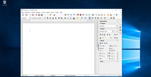 Libreoffice 5.0 gibt es jetzt als 64-Bit-Version für Windows 10. (Screenshot: Golem.de)