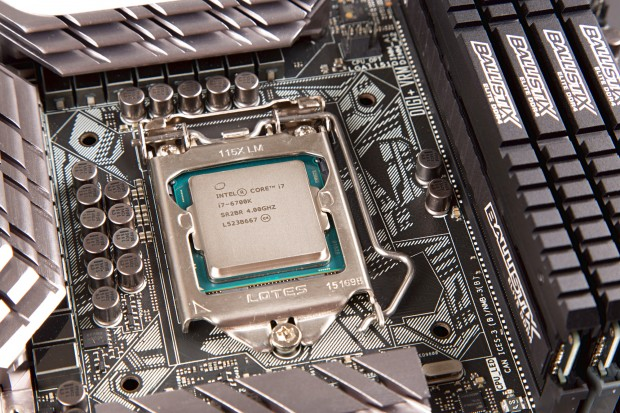 Core i7-6700K in Asus' Z1770-Deluxe (Foto: Martin Wolf/Golem.de)