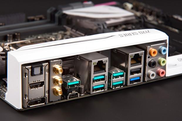 Asus verbaut sechs USB-3.1-Ports, einen davon als Typ C. (Foto: Martin Wolf/Golem.de)