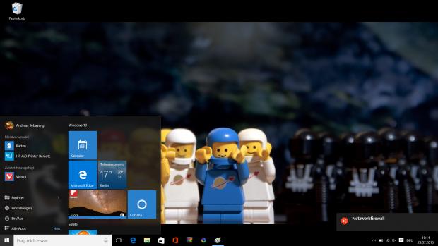 Beim Startmenü vereint Microsoft zwei Welten. (Screenshot: Golem.de)
