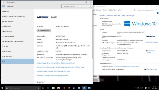 Bei den Einstellungen gibt es hingegen zwei verschiedene Orte. (Screenshot: Golem.de)
