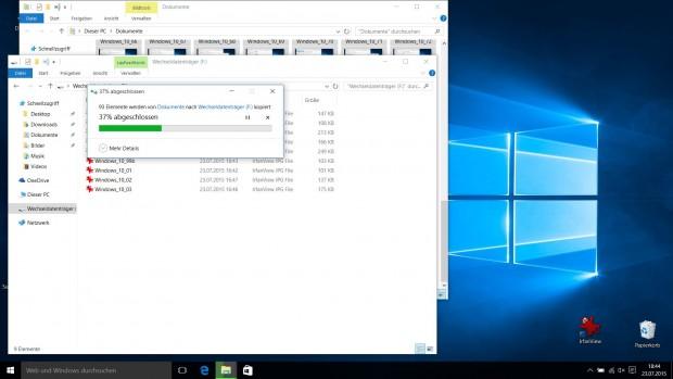 Datei-Explorer mit neuem Kopierdialog  (Screenshot: Golem.de)