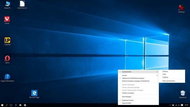 Auch in Windows 10 lassen sich zusätzliche Leisten einblenden. (Screenshot: Golem.de)