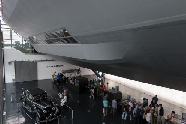 LZ 129 Hindenburg war das größte Luftschiff - hier ein Teilnachbau im Zeppelinmusem Friedrichshafen. (Foto: Werner Pluta/Golem.de)