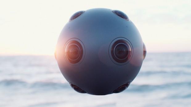 Die Kamera Ozo von Nokia ist kugelförmig. Die verfügt über je acht Stereokameras und Mikrofone. (Foto: Nokia)