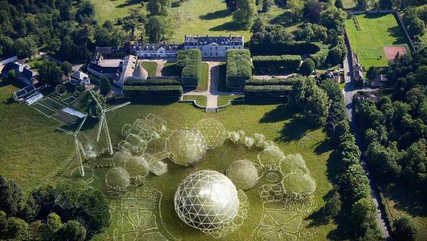 Konzeptzeichnung des Camps im Schlosspark (Bild: POC 21/ CC BY 2.0)