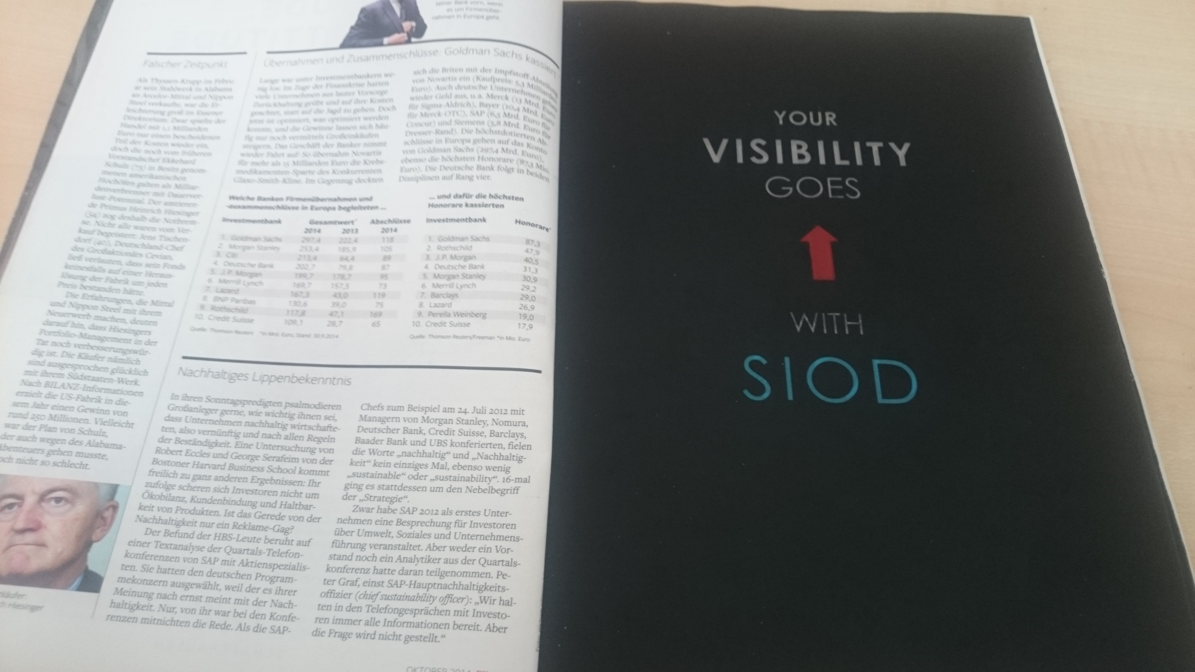 SIOD: Wenn die Anzeige auch in der Zeitung blinkt - Doch dann blitzt etwas auf! (Foto: SIOD)