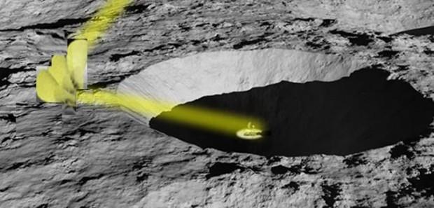 Transformers sind Roboter mit großen Spiegeln, die Sonnenlicht in Krater ...  (Bild: Nasa)