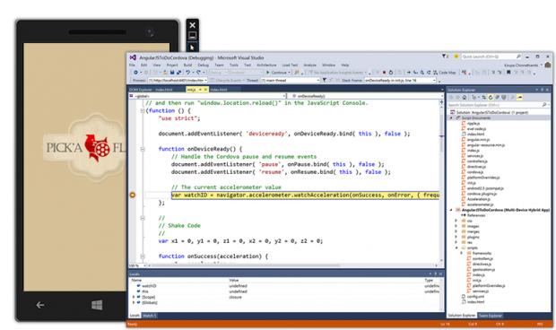 Der Android-Emulator (Quelle: Microsoft)