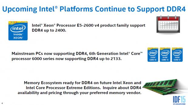 Broadwell-EP nutzt DDR4-2400 (Bild: Intel)
