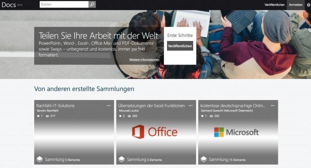 Docs.com (Bild: Microsoft)