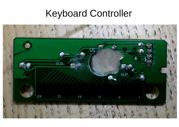 Der zerstörte Chip des Tastaturcontrollers: Dort hätten Daten gespeichert werden können. (Foto: Privacy International)