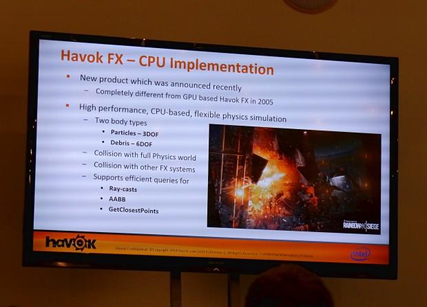 GDC-Präsentation zu Havok FX (Foto: Golem.de)