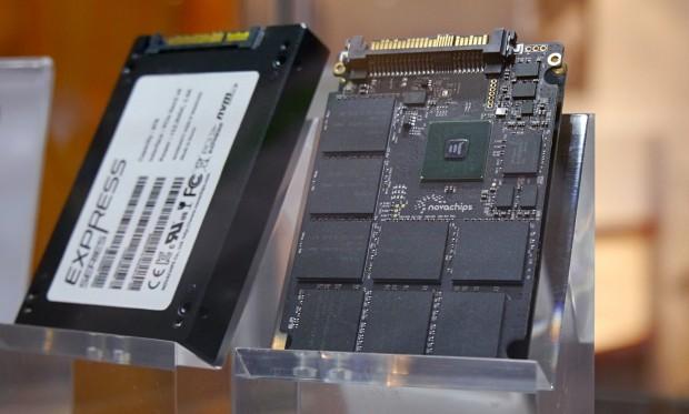 Novachips Express-SSD mit 6,4 TByte, NVMe-Protokoll und PCIe-2.0-4x-Anbindung (Foto: Marc Sauter/Golem.de)