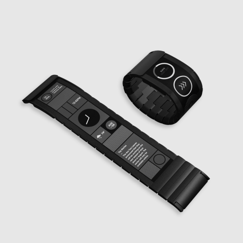Das flexible Wearable Wove von Polyera (Bild: Polyera)