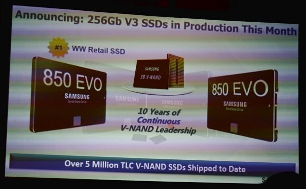 Samsung packt 256-GBit-TLC-Flash in die 850 Evo (Foto: Marc Sauter/Golem.de)