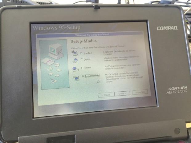 Ein paar Tricksereien später waren alle Daten kopiert, ohne eine einzige Floppy nutzen zu müssen. (Foto: Andreas Sebayang/Golem.de)