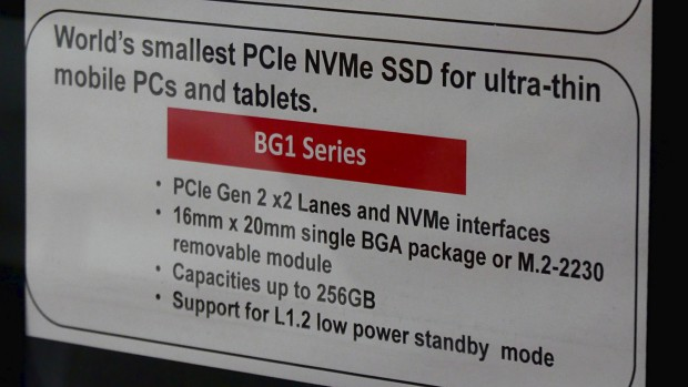 Details zu Toshibas BG1-SSD mit NVMe (Bild: Marc Sauter/Golem.de)