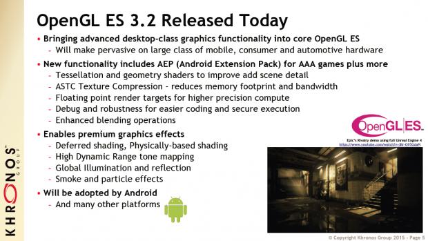 OpenGL ES 3.2 vorgestellt (Bild: Khronos Group)