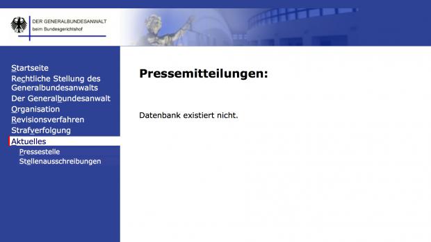Am Wochenende, nach dem der SQL-Dump publiziert wurde, wurde die Datenbank vom Betreiber deaktiviert. (Screenshot: Alexander Merz/Golem.de)