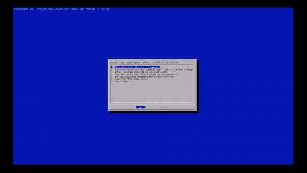 Die eigentliche Konfiguration erfolgt zwar zumeist in Text-GUIs, der Controller funktioniert hier aber immer noch. (Screenshot: Alexander Merz/Golem.de)