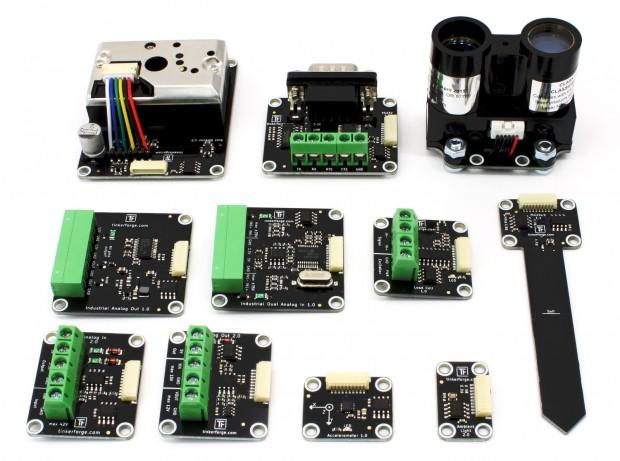 Tinkerforge stellt eine ganze Reihe neuer und überarbeiteter Module vor. (Foto: Tinkerforge)