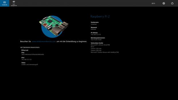 Der Übersichtsbildschirm vermittelt Basis-Infos. (Screenshot: Alexander Merz/Golem.de)