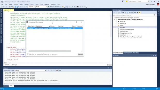 Die Administration und Programmierung erfolgt über einen Host-Rechner. (Screenshot: Alexander Merz/Golem.de)
