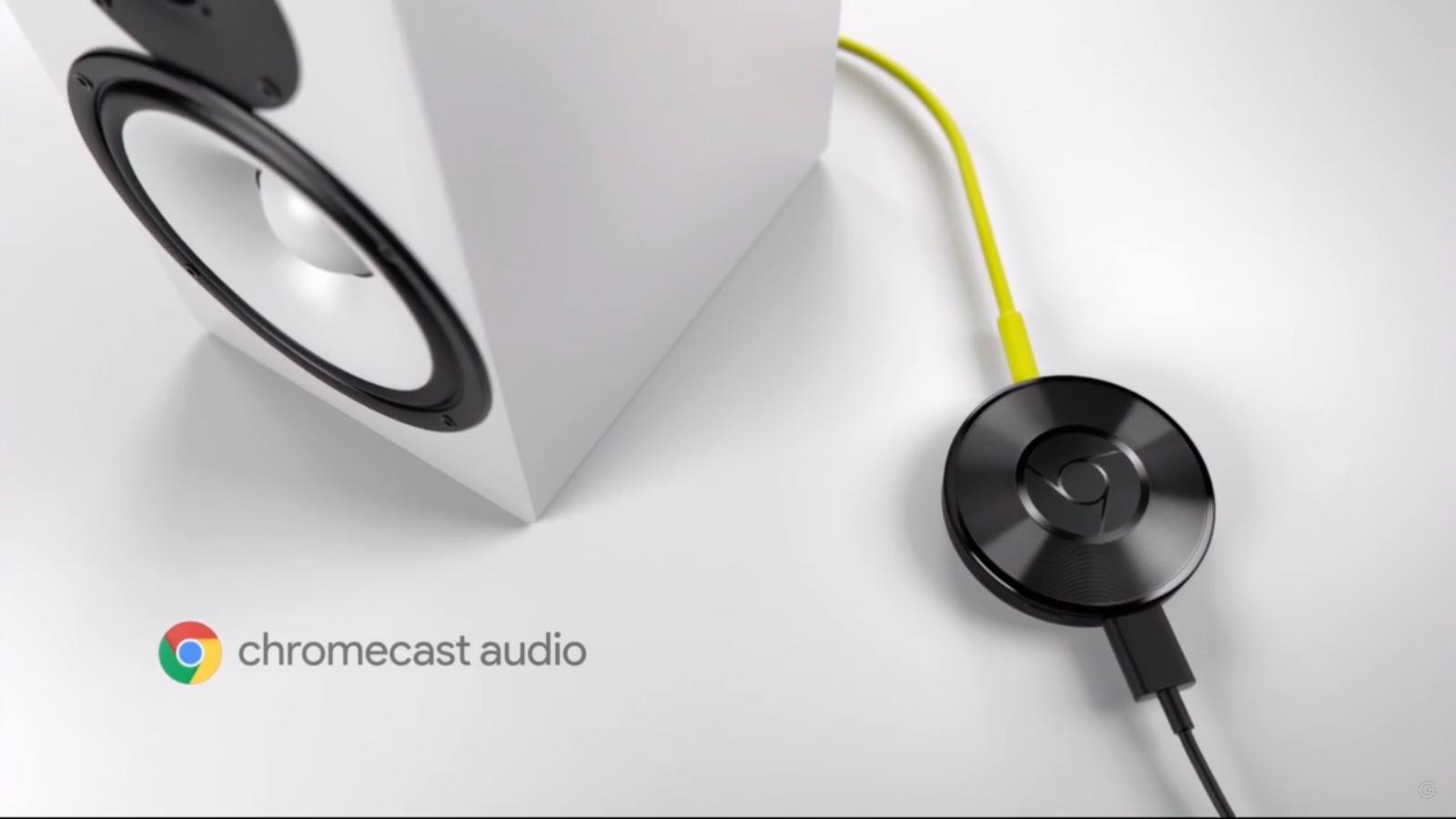 Google: Neuer Chromecast ist rund und kostet 39 Euro - Chromecast Audio (Screenshot Golem.de)