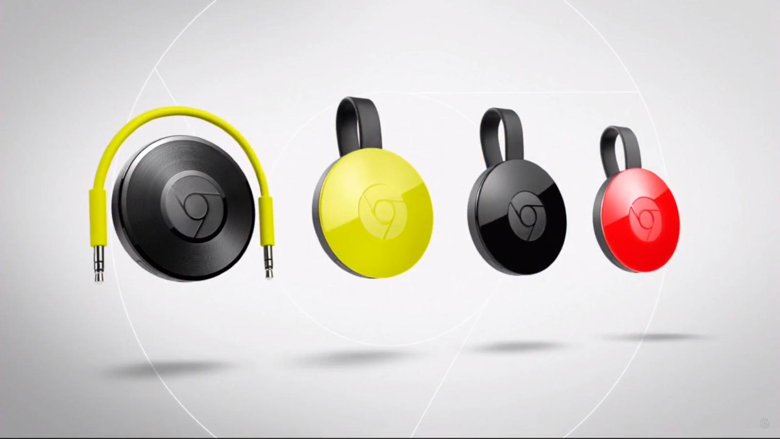 Google: Neuer Chromecast ist rund und kostet 39 Euro - Chromecast Audio und Chromecast (2015) (Screenshot Golem.de)