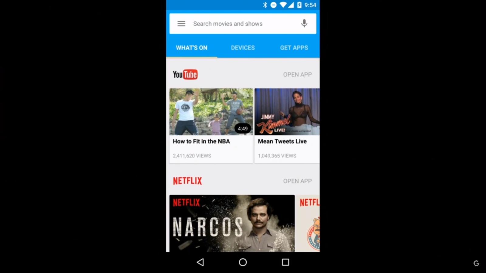Google: Neuer Chromecast ist rund und kostet 39 Euro - Neue Chromecast-App (Screenshot Golem.de)