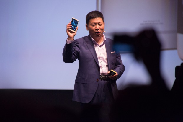 Huawei CEO Richard Yu präsentiert das neue Mate S (Bild: Martin Wolf/Golem.de)