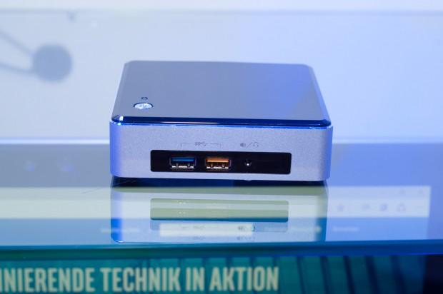 Ein Nachfolgemodell von Intels NUC wurde mit Skylake gezeigt. (Foto: Andreas Sebayang/Golem.de)