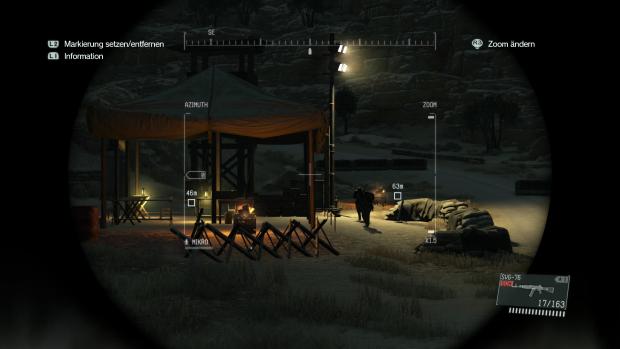 Bei Nacht erkunden wir per Fernglas eine feindliche Stellung. (Screenshot: Golem.de)