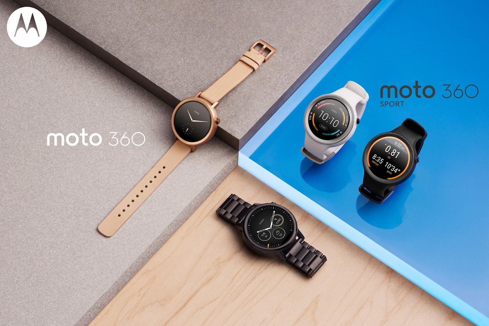 Smartwatches: Motorola stellt neue Moto 360 und Moto 360 Sport vor - Die neuen Moto-360-Modelle (Bild: Motorola)